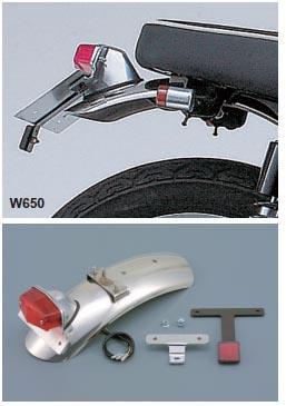 Garde-boue arrière complet pour W650